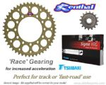 RACE GEARING: Renthal Sprockets and GOLD Tsubaki Sigma X-Ring Chain - Kawasaki ZX-9R (1998-2001)